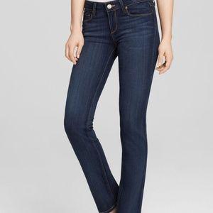 Paige Skyline Straight Dark Wash Jeans